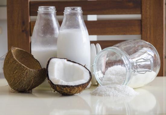 кокосовая стружка и масло