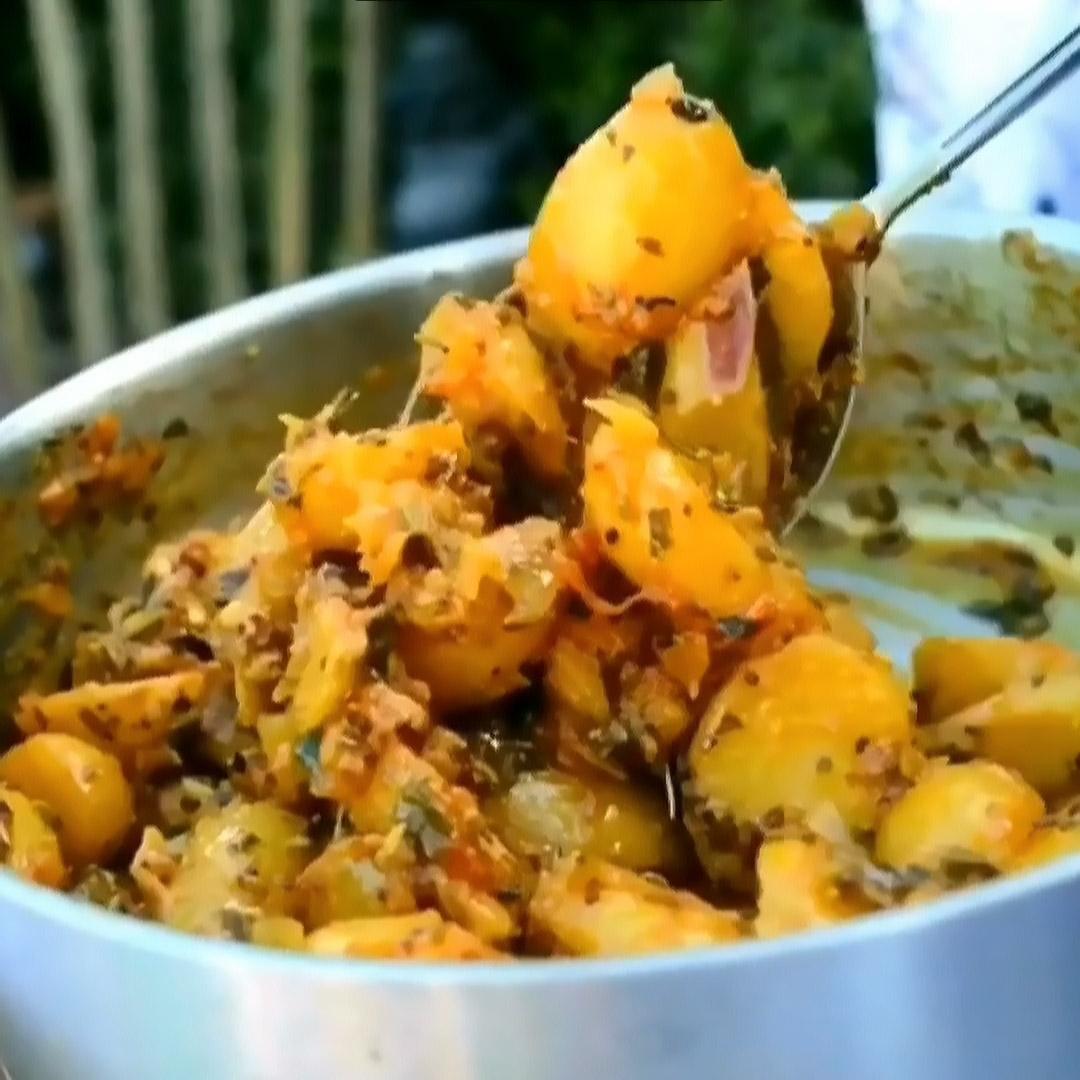 Картофель с мятой и тамариндом