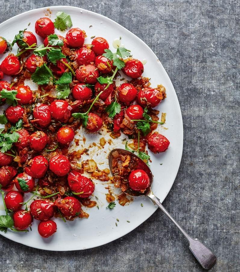 Жареные помидоры с кумином