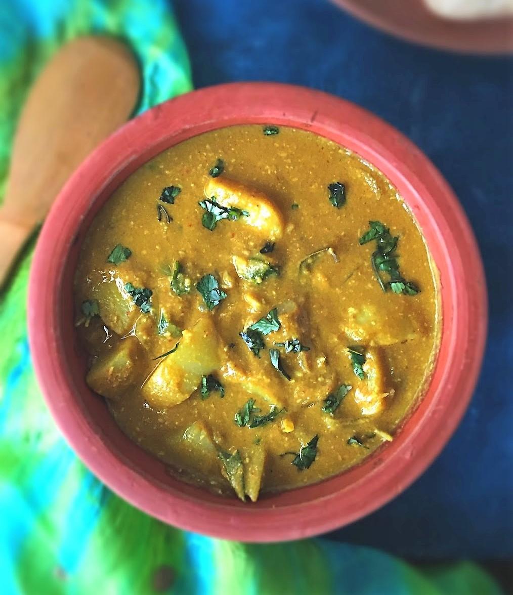 Конгунаду Урулай Курма - Картофельный карри из Конгунаду