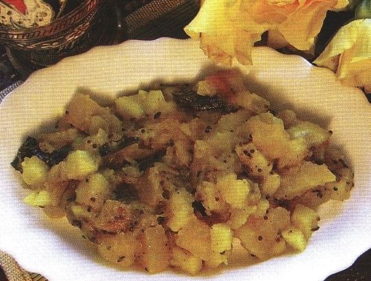 Тыква с картофелем