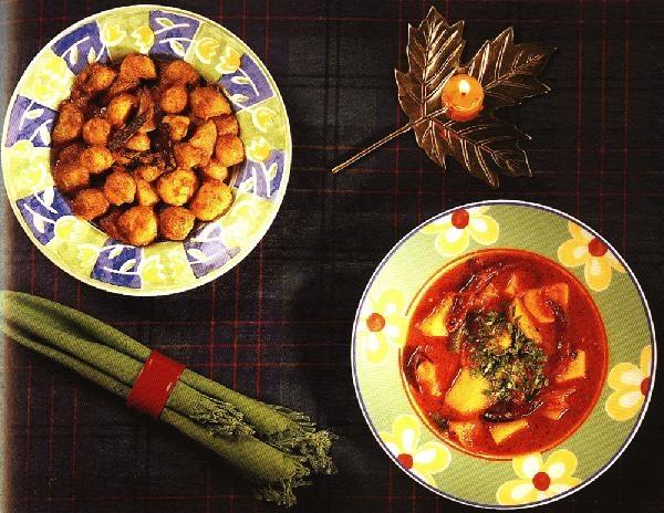 Алу Дум (картофель с имбирем и йогуртом)