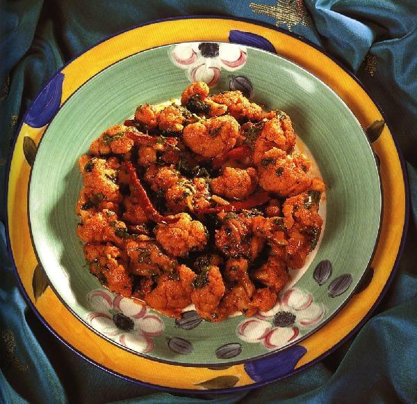 Гоби джалфрези - Цветная капуста с томатами и уксусом