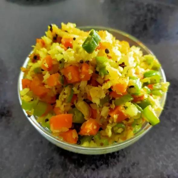 Морковно-фасолевое рагу к рису