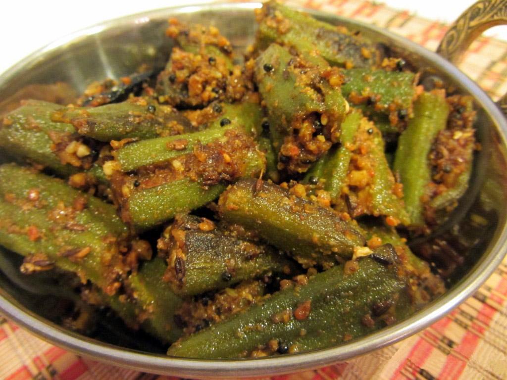 Масала бхинди сабджи - Окра с пряностями и кокосом