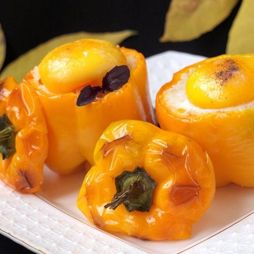 Фаршированные жёлтые перцы